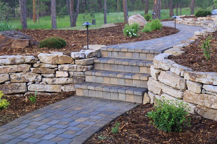 Hardscaping on Pathway Wake Forest