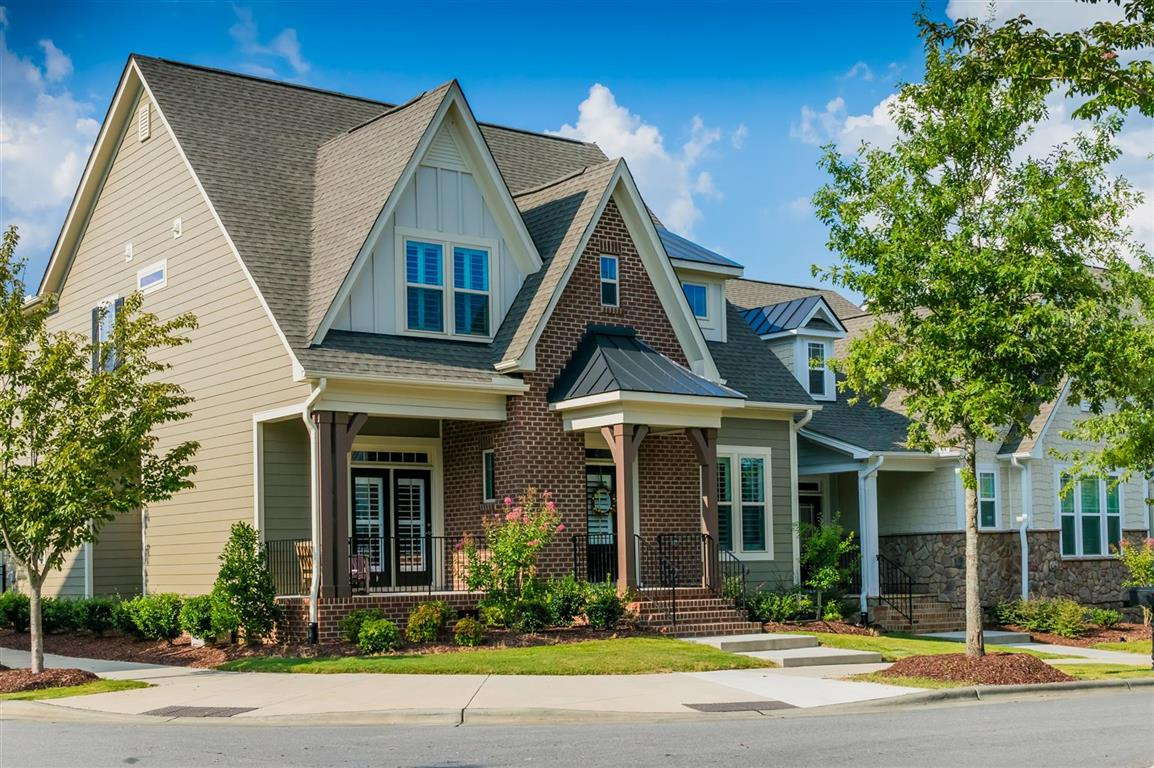 Professionally maintained lawn and landscape with home in Wake Forest.