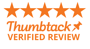 Thumbtack Verified Reviews badge.