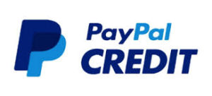 PayPal Credit's logo signifying this payment option is accepted.